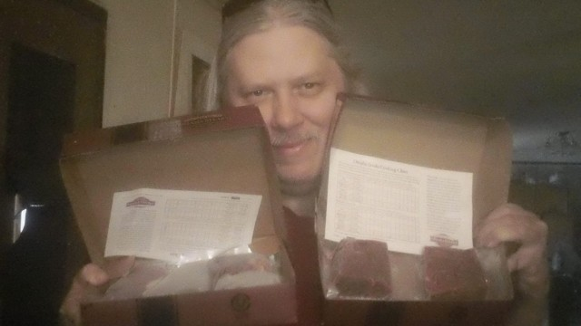 David won this Omaha Steaks package for $0.81 using only 33 voucher bids! #QuiBidsWin