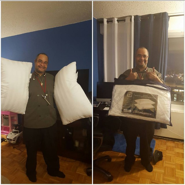 Jeffrey used 7 voucher bids to win this Egyptian cotton pillow set for only $0.23! #QuiBidsWin