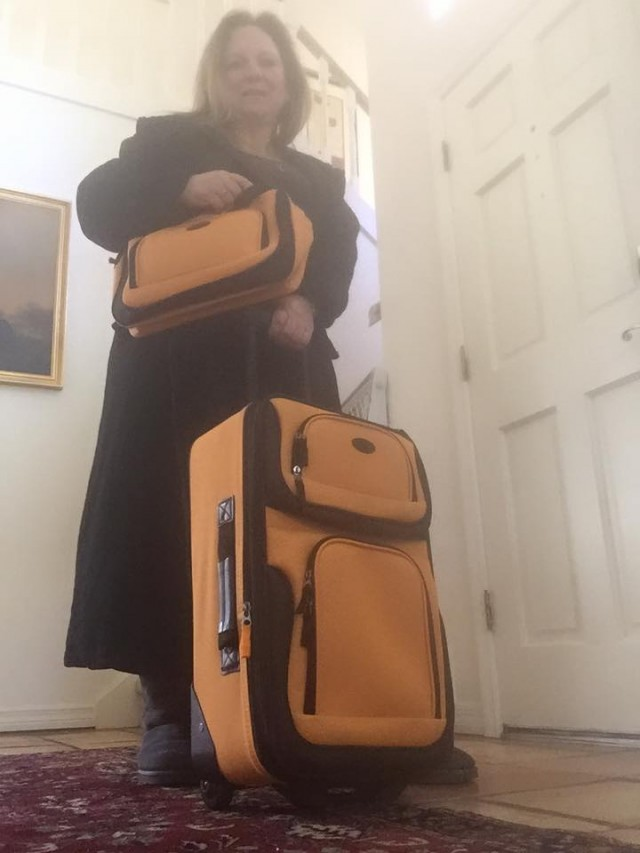 Roxana won this 2-piece luggage set for $0.35 using only 10 voucher bids! #QuiBidsWin