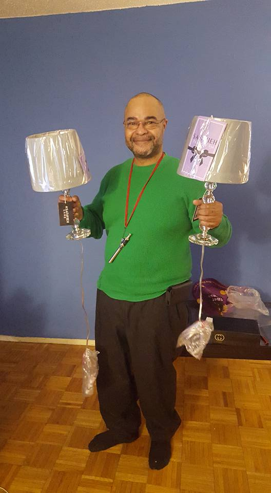 Jeffrey won these crystal ball table lamps for $0.90 using only 10 real bids! #QuiBidsWin