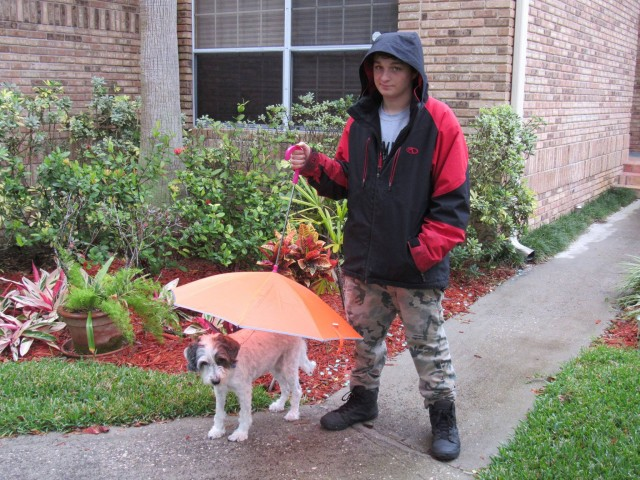 Roxana won this awesome dog umbrella for $0.22 using only 10 real bids and saved 82%! #QuiBidsWin