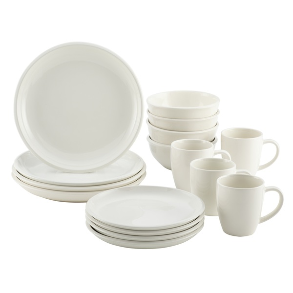 Rachael Ray Rise 16-Piece Dinnerware Set - White