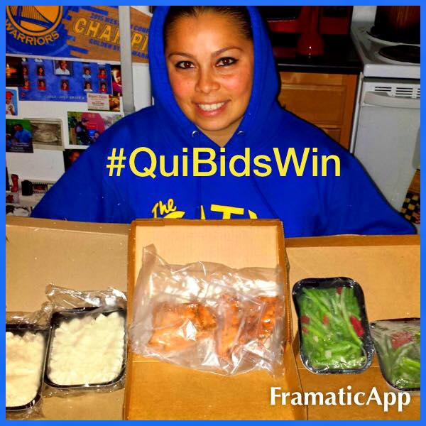 Elgin won this Omaha Steaks combo feast (+1X Gameplay) for $1.95 using only 5 voucher bids and saved 97%! #QuiBidsWin