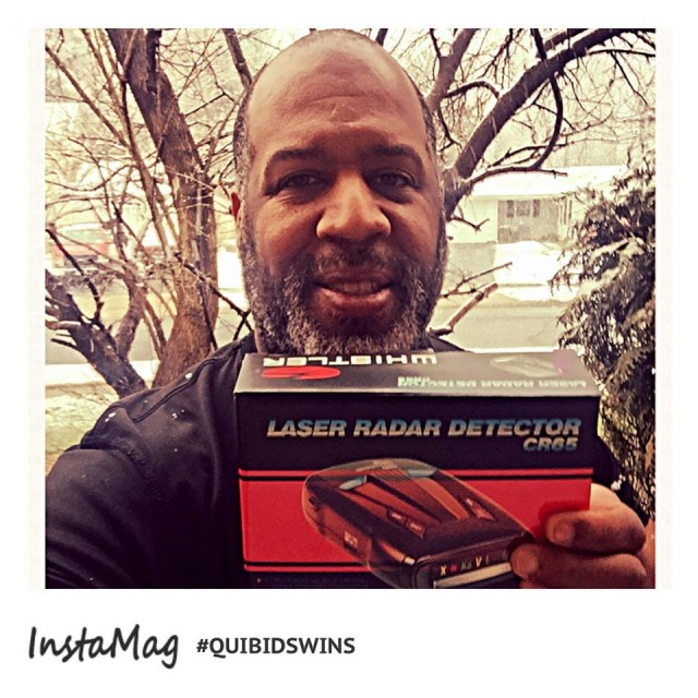 David won this laser radar detector using 10 real bids and 6 voucher bids and saved 92%! #QuiBidsWin