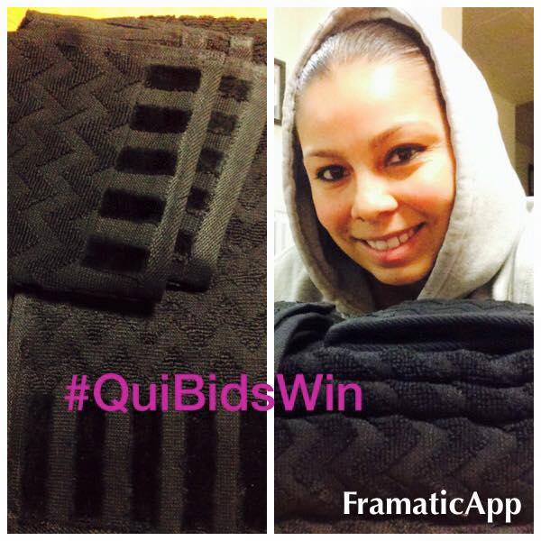 Elgin won a 6pc Egyptian Towel Set (+1X Gameplay for $0.22 using just 3 voucher bids! #QuiBidsWin