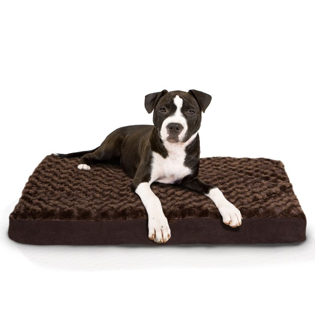 Nap Ultra Soft Plush Top, Suede Gusset Deluxe Orthopedic - Chocolate