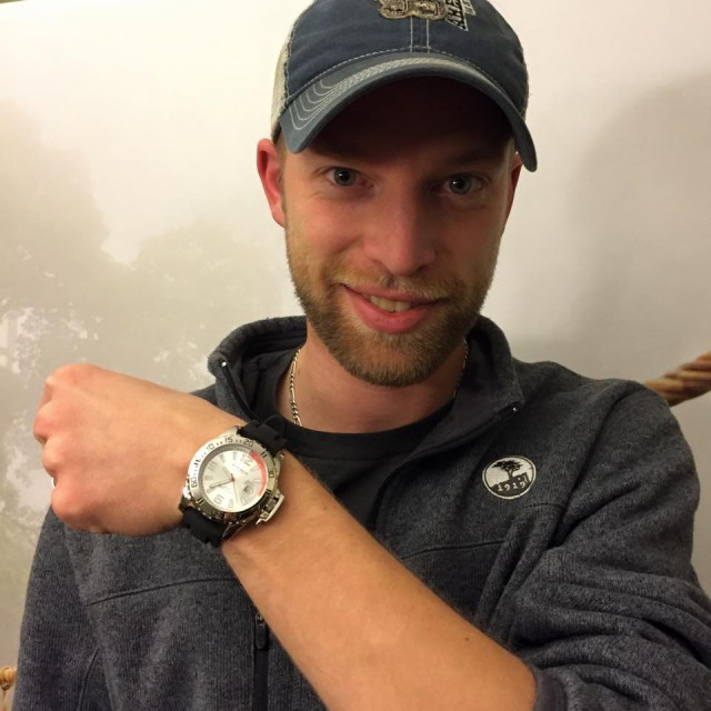 Aaron used one bid to win this watch for only $0.13! #QuiBidsWin #OneBidWin