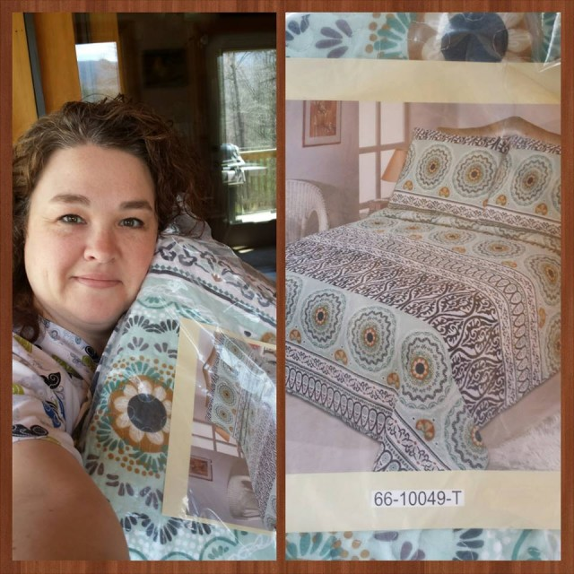 Shanon won this cotton quilt set for $2.35 and used only 16 voucher bids! #QuiBidsWin