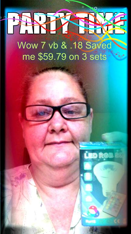 Phyllis won these color changing light bulbs for $0.18 using 7 voucher bids and saved almost $60! #QuiBidsWin