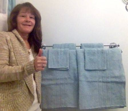 Janise used 49 voucher bids to win this Egyptian cotton towel set for only $2.69! #QuiBidsWin