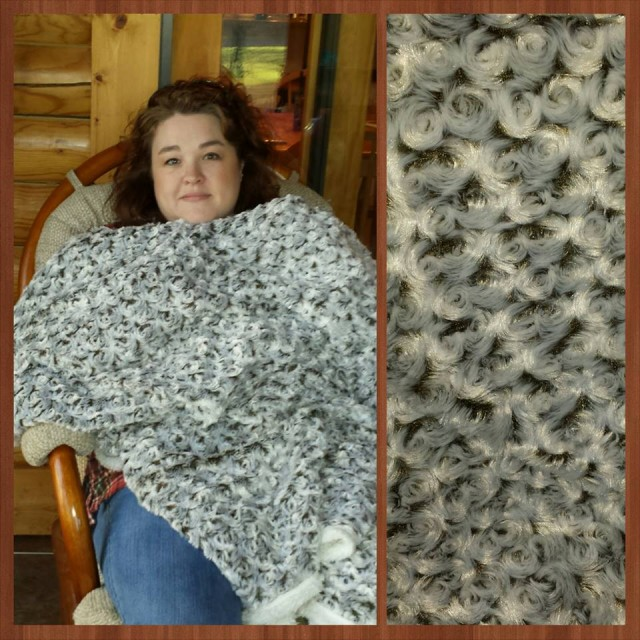 Shanon won this sherpa throw blanket for $0.18 using only 4 voucher bids! #QuiBidsWin