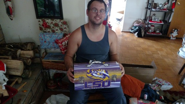 Phyllis won this #LSU toolbox for her son for $0.52 using only 23 voucher bids! #QuiBidsWin
