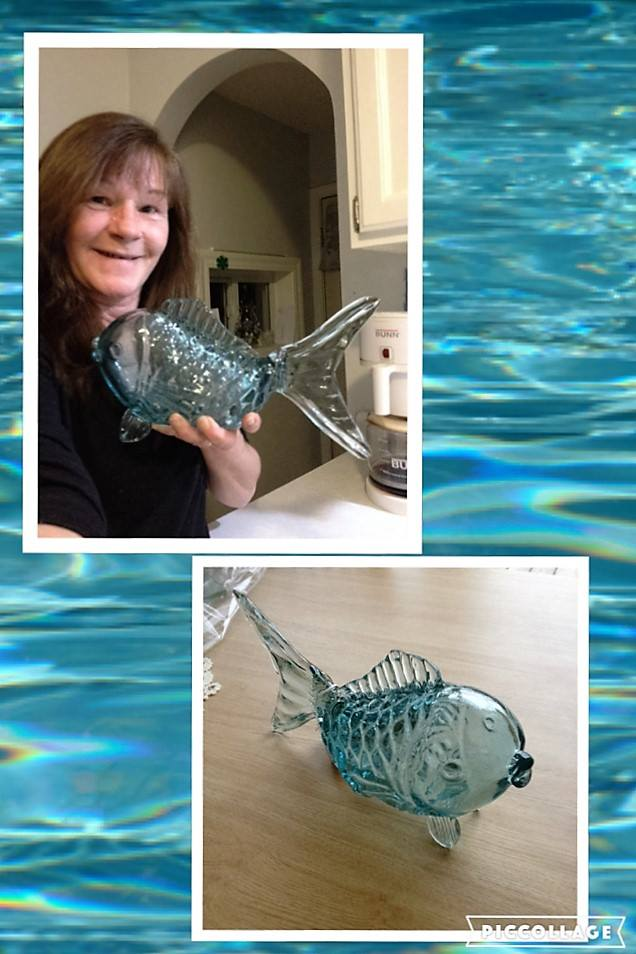 Janise used 78 voucher bids to win this glass fish decoration for $3.31! #QuiBidsWin