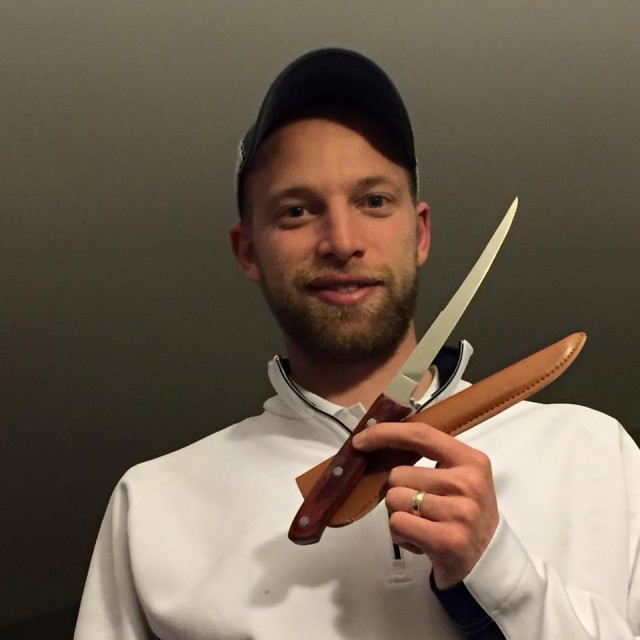 Aaron used 6 voucher bids to win this filet knife for only $0.17! #QuiBidsWin