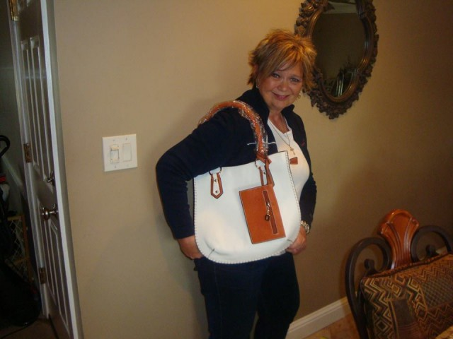 Debbie M. and the satchel win