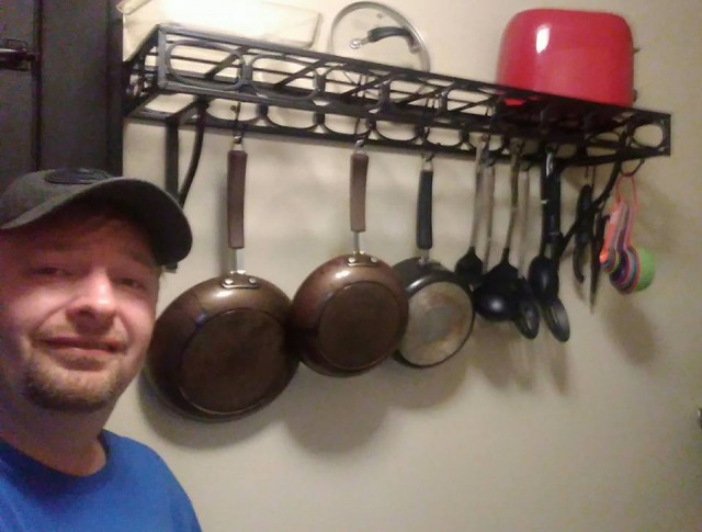 Steve S. and the pot rack win
