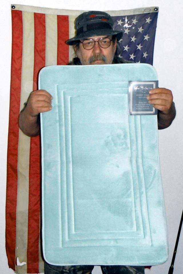 William K.and the blue bathmat win