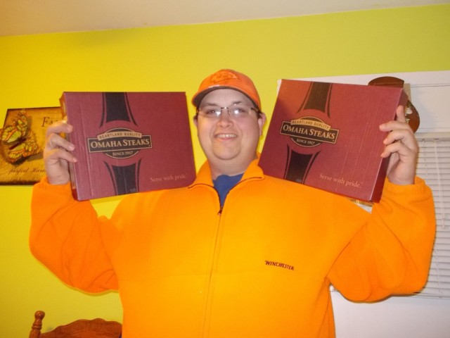 Mark won this Omaha Steaks Ribeye package for $6.32 using 88 voucher bids! #QuiBidsWin