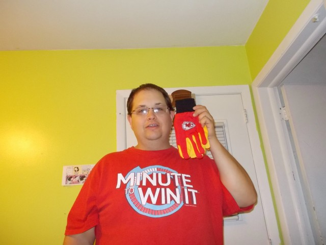 Mark won this pair of KC Chiefs gloves for $0.60 using only 1 voucher bid! #OneBidWin