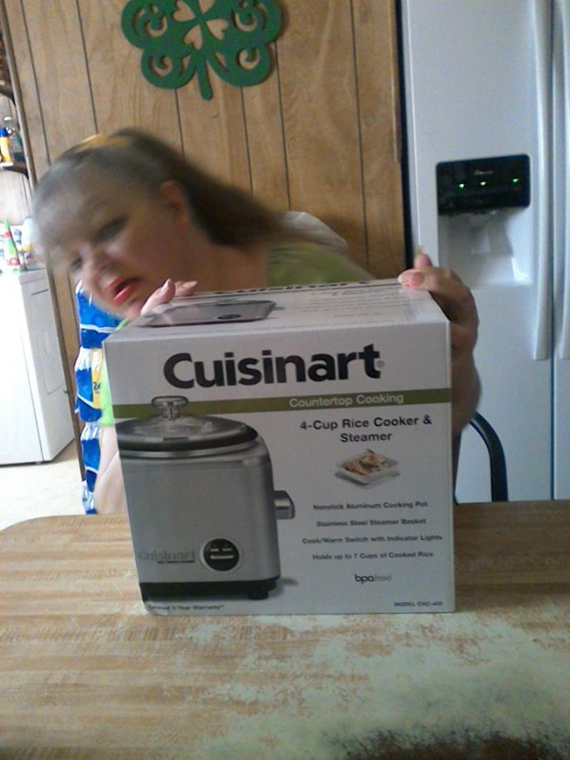 Cathy used 20 real bids to win this cuisinart rice cooker for $0.51 and saved 83%! #QuiBidswin