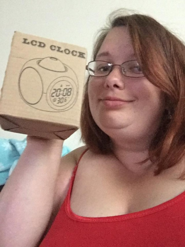 Samantha won this LCD alarm clock for $0.01 using only one voucher bid! #OneBidWin