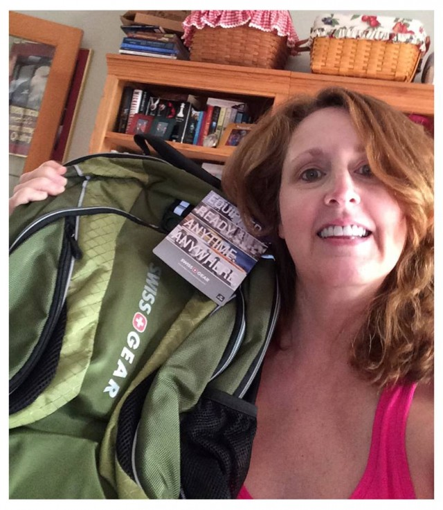 Connie won this laptop backpack for $0.50 using 22 voucher bids and saved 99%! #QuiBidsWin