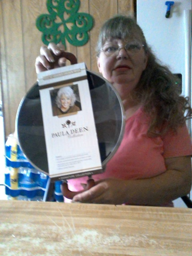 Cathy won this Paula Deen chicken fryer skillet for $0.57 using 24 real bids and saved 77%! #QuiBidswin