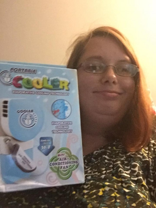 """One bid win again :) I used one rb and saved 98%! I got this awesome portable cooler(air conditioner) thanks QuiBids!"" - Samantha"