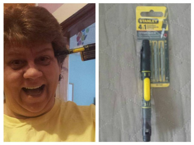 Jodi won this pocket screwdriver for $0.16 using only 7 voucher bids! #QuiBidsWin