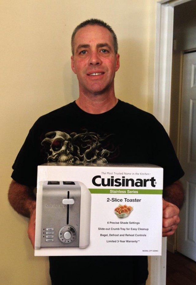 Doug won this toaster for $0.63 using 8 voucher bids!