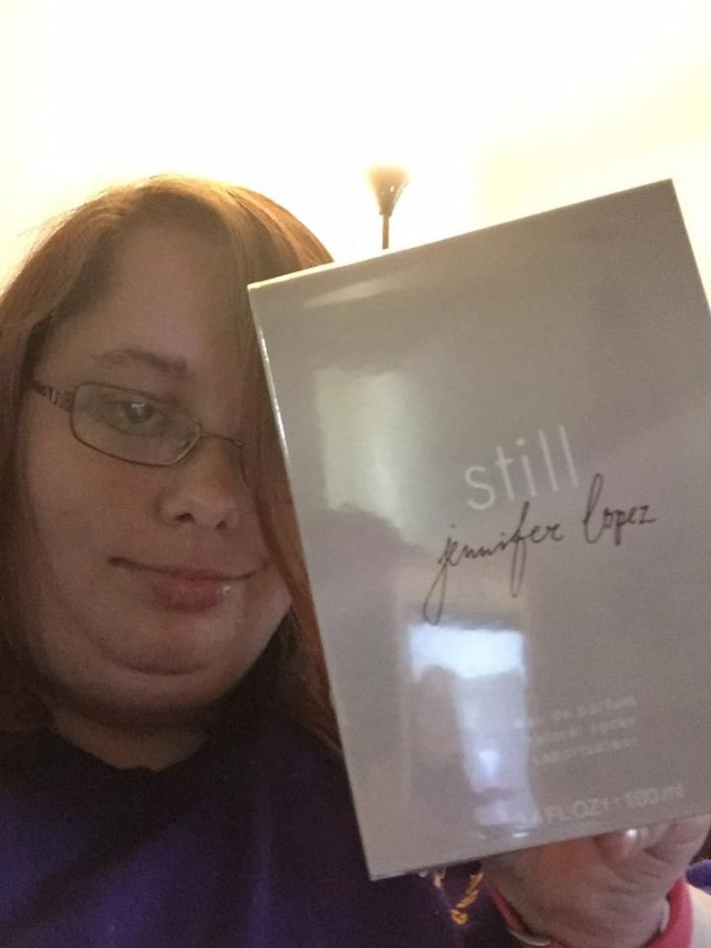 Samantha won this Jennifer Lopez perfume for $0.08 using only 4 voucher bids and saved 99%! #QuiBIdsWin
