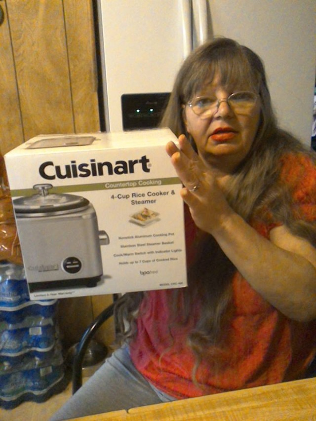 Cathy won this rice cooker for $0.75 using only 32 voucher bids! #QuiBidsWin