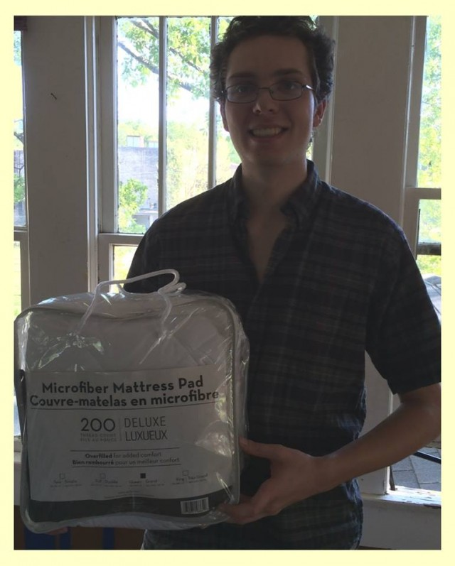 Connie used 14 voucher bids to win this mattress pad for her son's dorm for $0.53! #QuiBidsWin