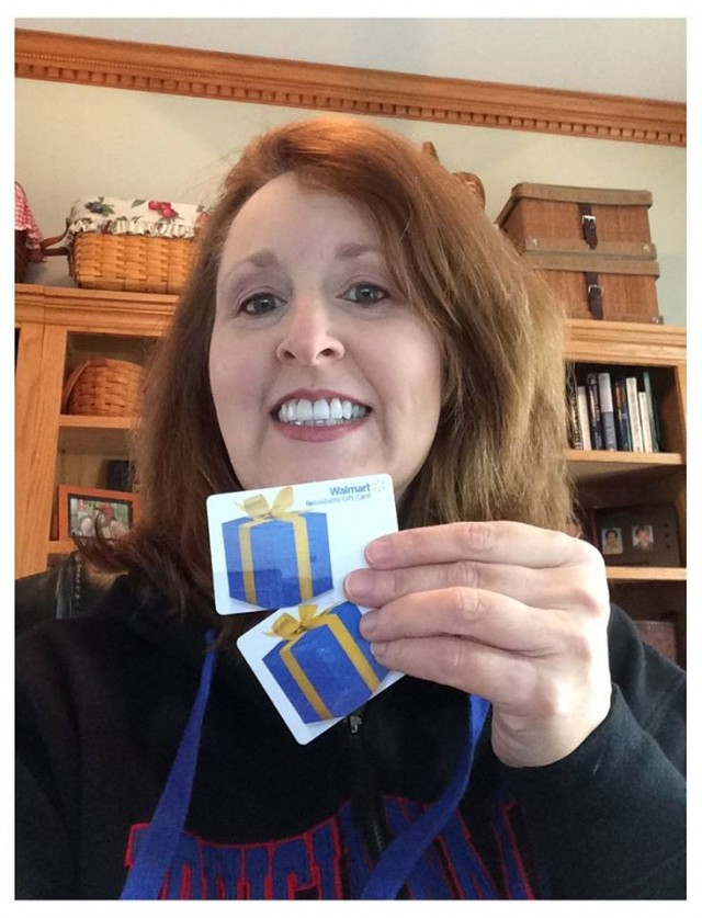 Connie used the gift cards she won on QuiBids to help with her son's college expenses.