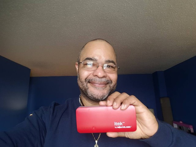 Jeffrey used 12 voucher bids to win this portable charger for only $0.50! #QuiBidsWin