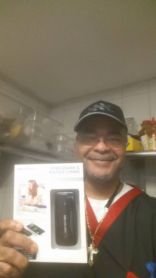 Jeffrey won this portable charger for only $0.10! #QuiBidsWin