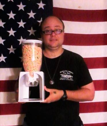 Teresa won her son this cereal storage and dispenser for $0.10 using only 1 real bid and saved 98%! #QuiBidsWin