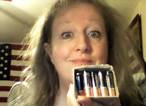 Teresa won this 40 pack of AA batteries for $0.48 using only 21 real bids and saved 53%! #QuiBidswin