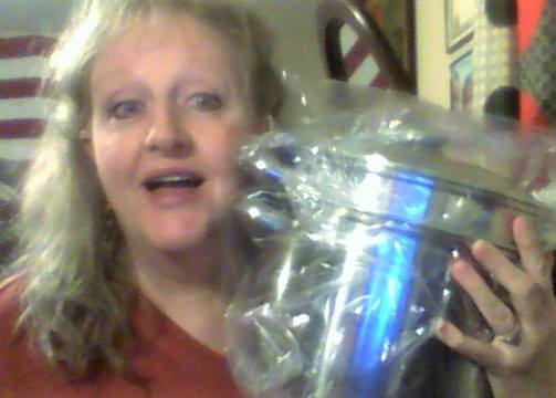Teresa won this 8qt pasta pot set for $0.02 using only 1 real bid! #OneBidWin
