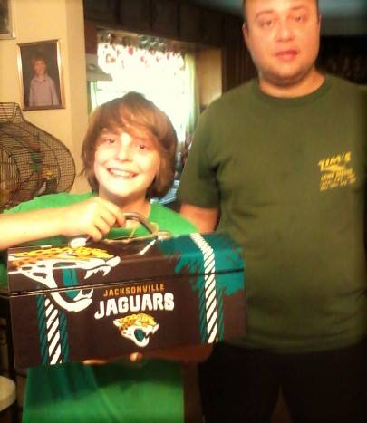 Teresa won this Jacksonville Jaguars toolbox for her grandson for $1.13 using 7 voucher bids! #QuiBidsWin