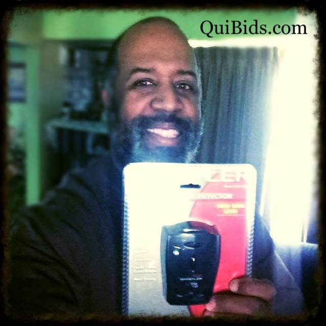David won this radar detector for $5.33 using 188 voucher bids! #QuiBidsWin