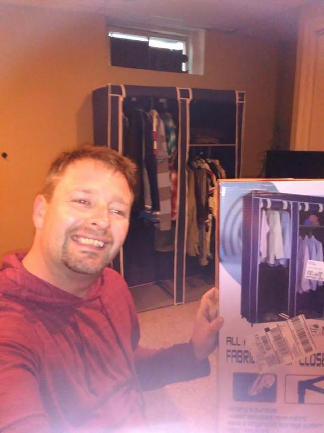 QuiBidder Steve used 8 voucher bids to win this above edge closet for only $0.17! #QuiBidsWin