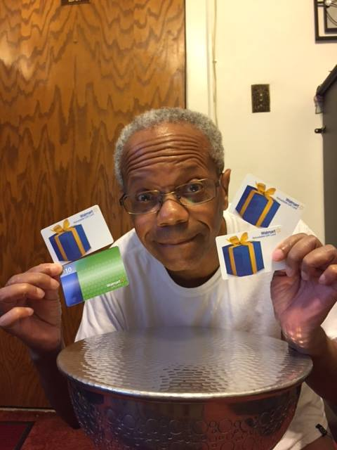 Albert has been getting great deals on gift cards! #QuiBidswins #ShoppingHaul
