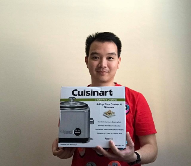 Hallow won this rice cooker for $2.69 using 130 voucher bids! #QuiBidsWin