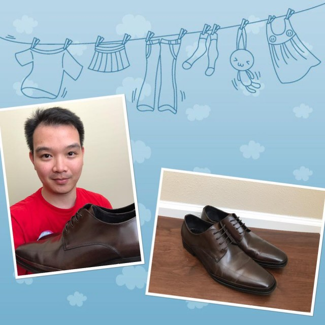 Hallow won these dress shoes for $0.28 using only 12 voucher bids! #QuiBidsWin
