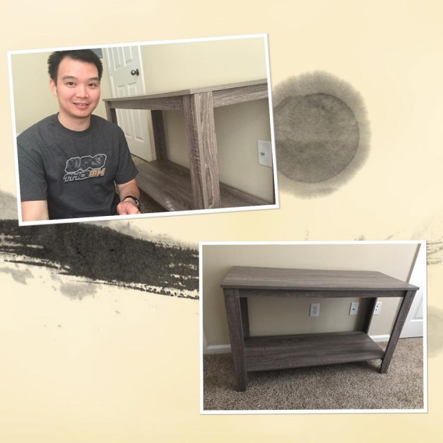 Hallow won this decorative table for $0.24 using only 11 voucher bids! #EpicWin #QuiBidsWin