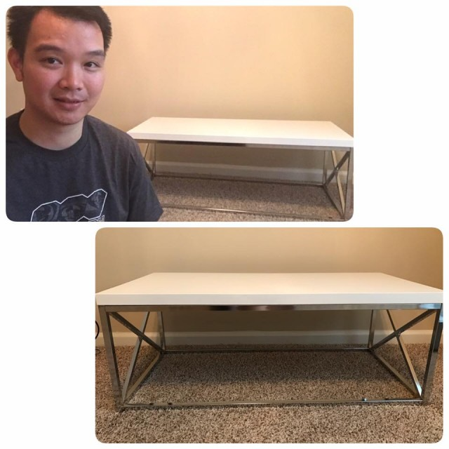 Hallow used 67 voucher bids to win this decorative table for $1.53 and saved over $137! #QuiBidsWin