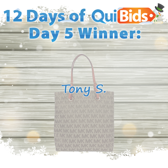 Day 5 Winner - Tony S.