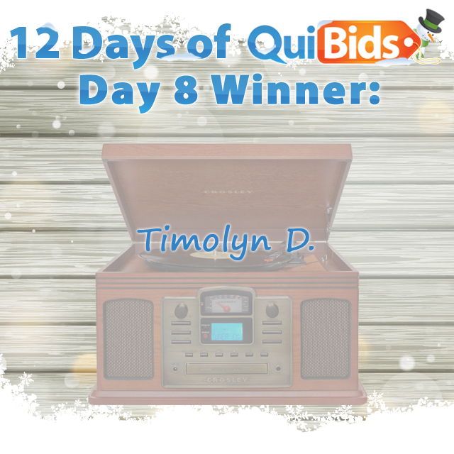 Day 8 Winner - Timolyn D.