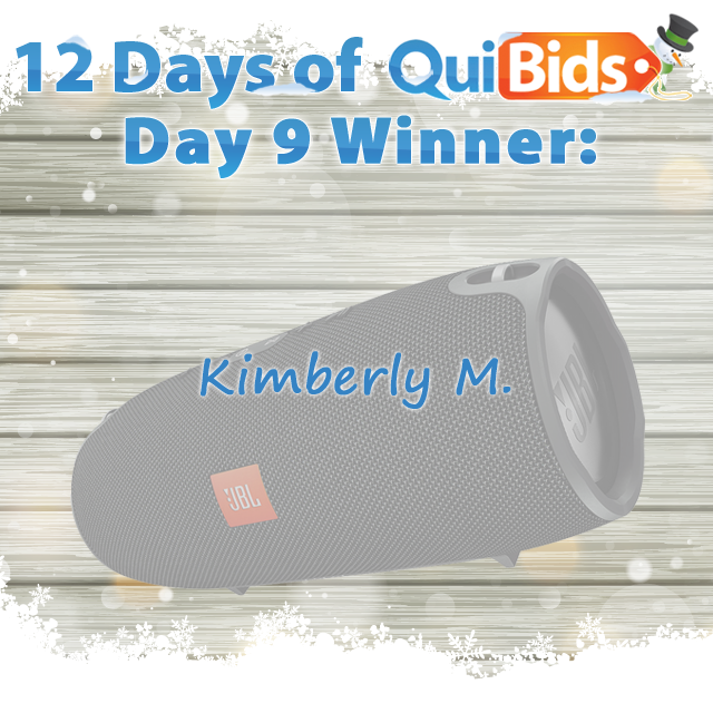 Day 9 Winner - Kimberly M